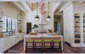 kitchen-cabinets-in- Smyrna -ga-cream-kitchen-blush-island-lime-seat cushions